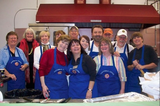 Foothill Lions Club at the Cioppino Feed (2011)