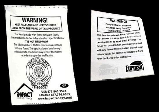 Flame Retardant Labels
